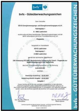 bvfs Güteüberwachungszeichen Februar 2021